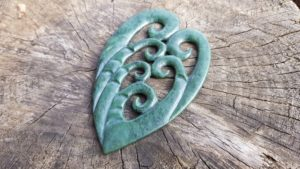 pounamu, koru, sculpture, carving, greenstone, new zealand, maori, jade